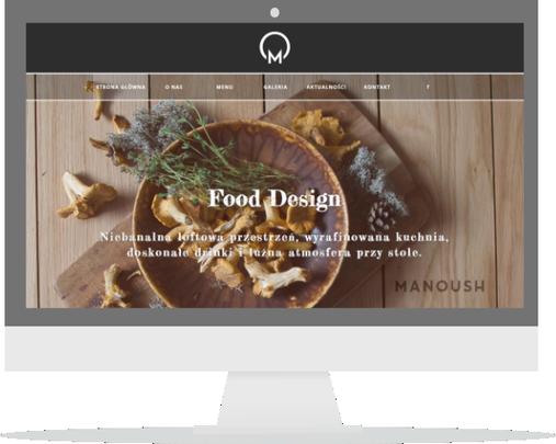 Strona internetowa restauracji Manoush