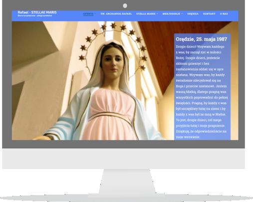 Strona biura turystyczno-pielgrzymkowego Rafael – Stellae Maris