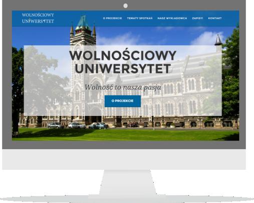 Landing Page Uniwersytetu Wolnościowego